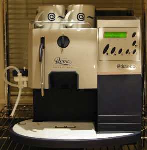 A Saeco Royal Professional superautomatic coffee machine